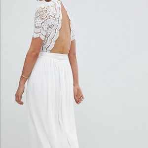 ASOS Dresses - White Elegant Floor Length Dress
